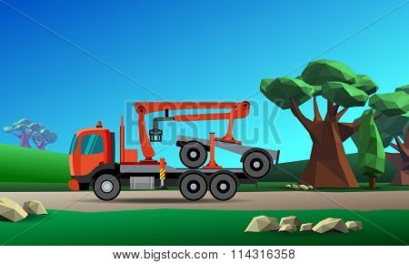 Crane Truck For Timber