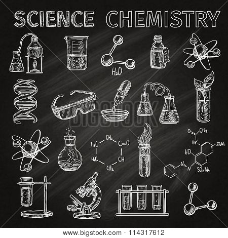 Science And Chemistry Icons Set