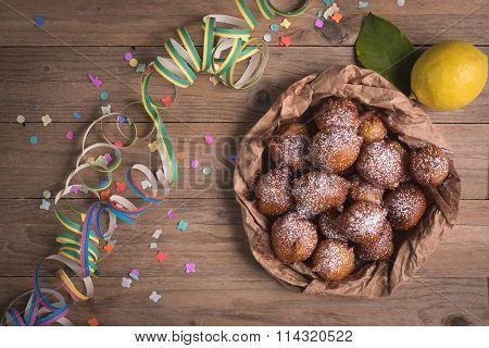 Fried Castagnole Carnevale