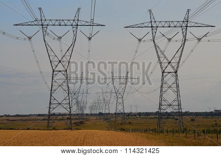 Field of High Voltage Power lines
