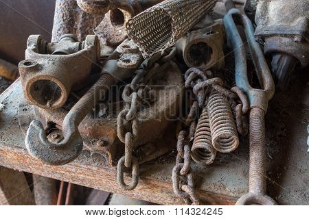 rusting steel