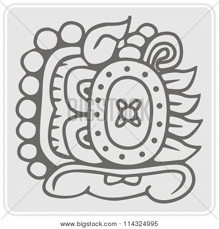 icon with glyphs of the Maya Night Lord
