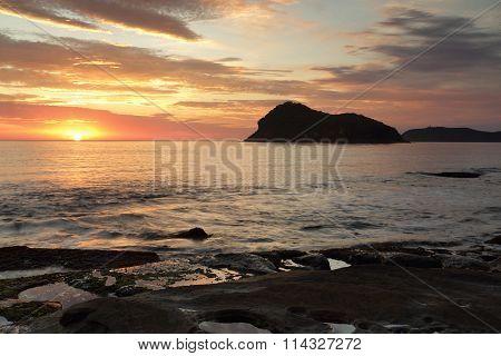 Summer Sunrise Views Across To Lion Island, Australia