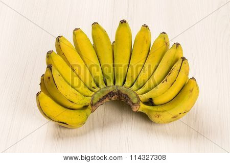 A Banch Of Gold Bananas