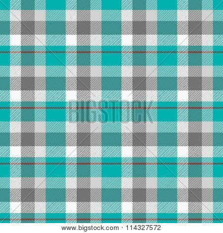 Abstract checked turquoise white gray pattern