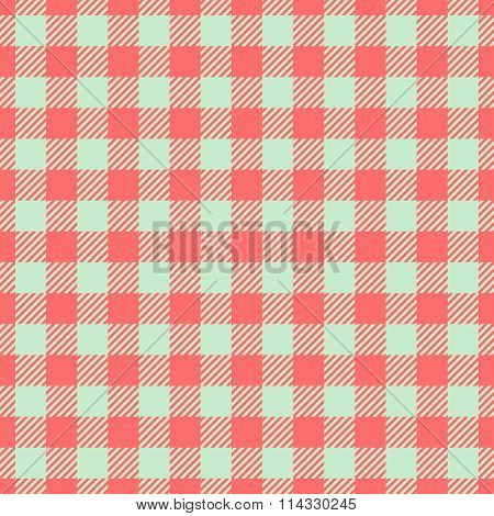 Abstract checkered seamless red white regular digitally rendered pattern