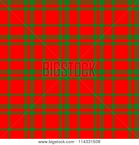 Red green checkered pattern like a cloth