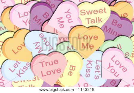 Seamless Repeating Conversation Hearts