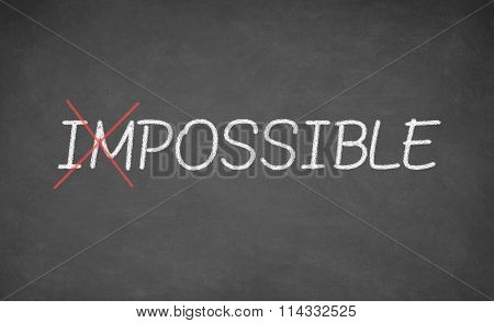 Making possible the impossible. Positive attitude concept.