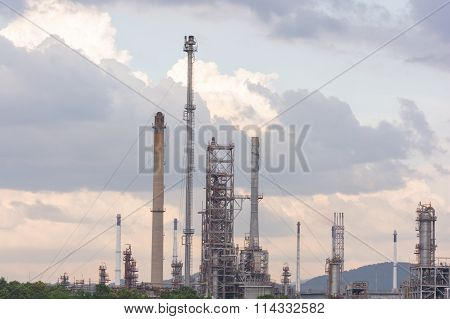 Oil Refinery Factory Station