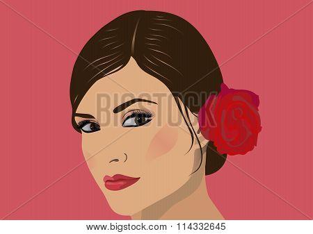 Face beautiful woman.