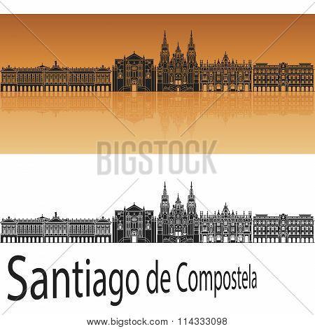 Santiago De Compostela Skyline