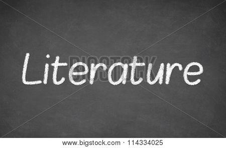 Literature lesson on blackboard or chalkboard.