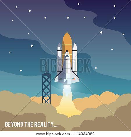 Astronomy flat illustration