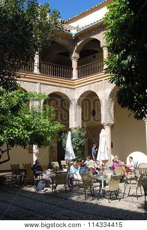 Courtyard cafe, Cordoba.