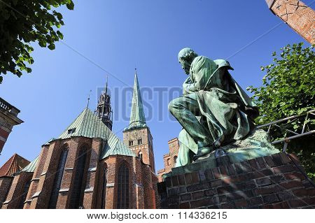 Monument Of Emanuel Von Geibel, Lubeck, Germany