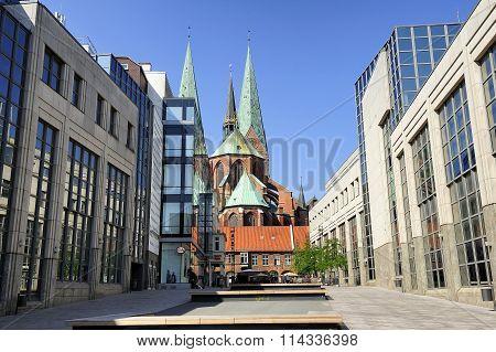 Saint Mary's Church (st. Marienkirche), Lubeck, Germany.