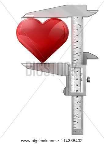 Vertical Caliper Measures Heart