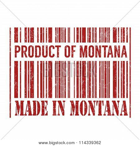 Product Of Montana, Made In Montana Barcode