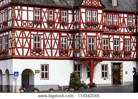 Nassau, the Town Hall on the market square, Germany