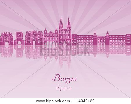 Burgos Skyline In Purple Radiant Orchid