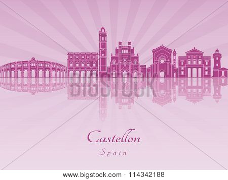 Castellon Skyline In Purple Radiant Orchid