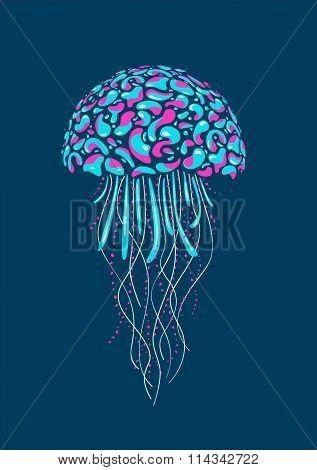 Neon glow jellyfish.