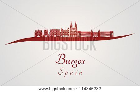 Burgos Skyline In Red