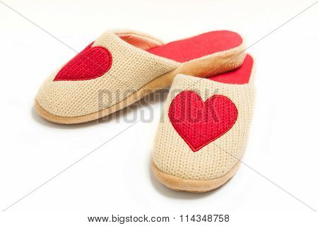 Slippers with hearts