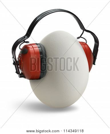 Egg With Ear Protection