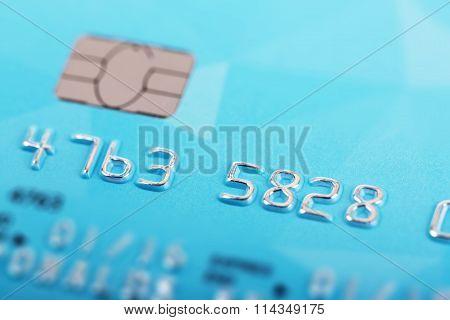 Macro Shot Of Credit Card Numbers