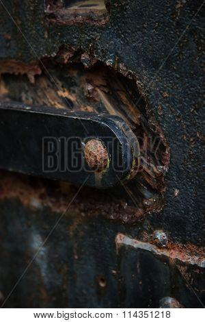 Rusty Door Details