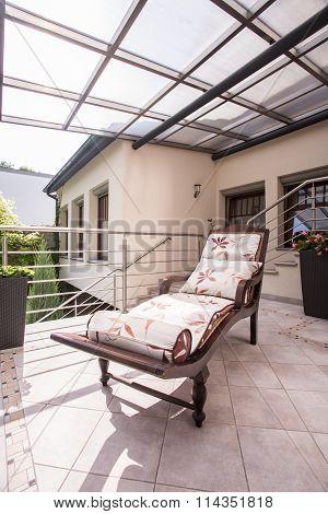 Deck Chair On Luxury Verandah