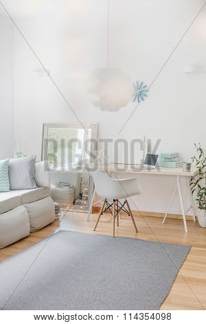 White Room With Simple Furniture