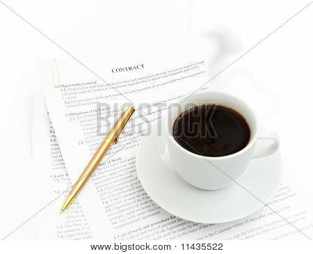 Coffee And Stock Chart