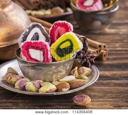 Turkish delight background