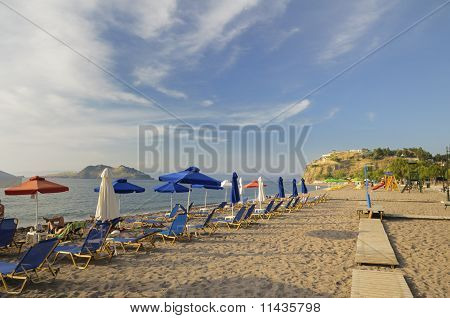 Beach At Petra, Lesvos, Greece
