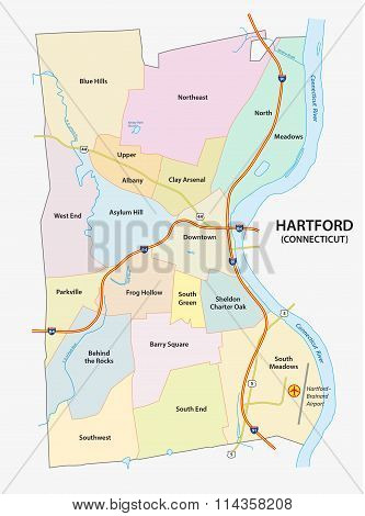 Hartford, Neighborhood Map