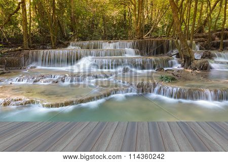 Deep forest spring waterfalls, national park of Thailand
