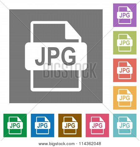 Jpg File Format Square Flat Icons