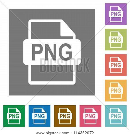 Png File Format Square Flat Icons