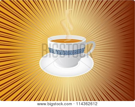 vector illustration of a cup of tea