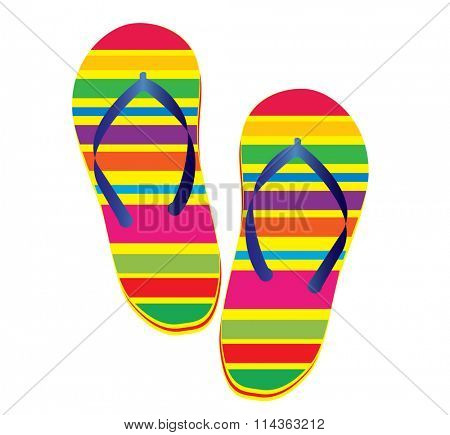Raster illustration of a pair of flipflop