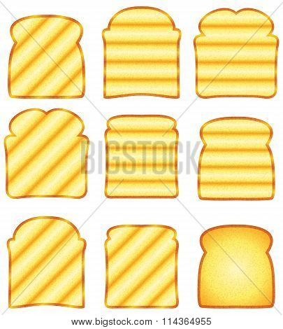 Vector Toasted Bread Slices