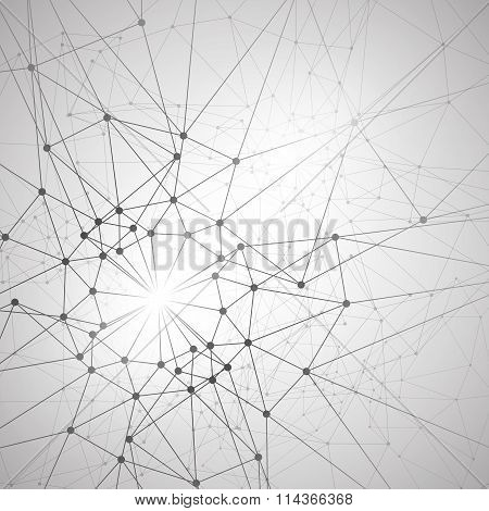 Molecular structure background