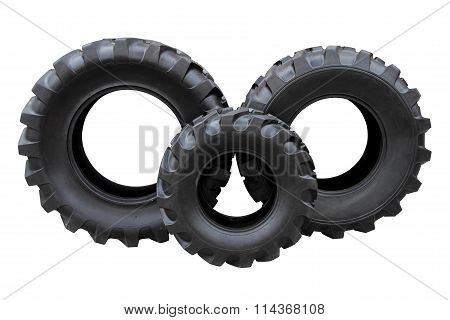Three Tractor Tires