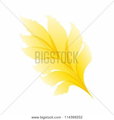 Abstract floral yellow pattern