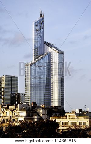 A Skyscraper Of Defense Business District In Paris