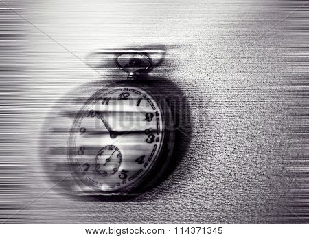 passing time, moving clock icon