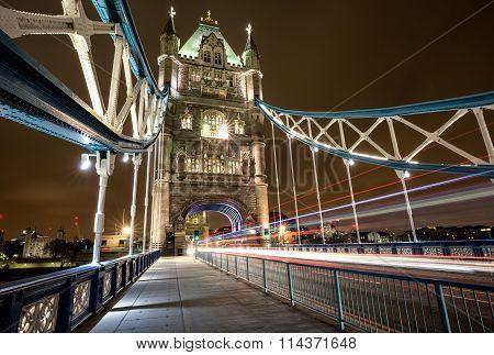 Walkway on the Tower Bridge of London
